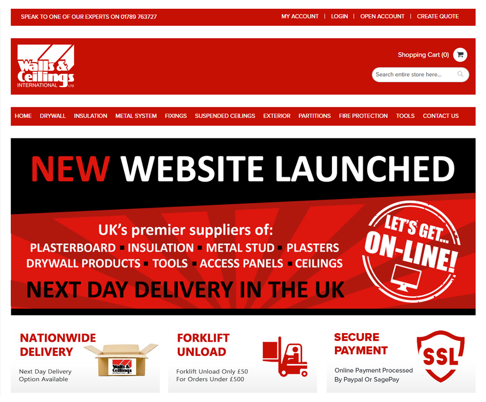 New Walls & Ceilings International Website Launched